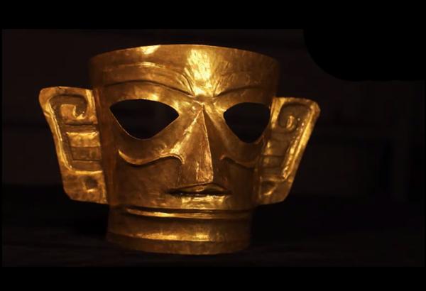 """匠人用大米做出三星堆黄金面具,网友直呼""""惊艳"""""""