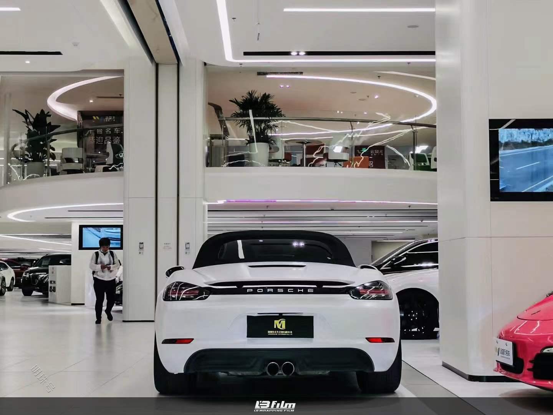 保时捷-Boxster全车LB改色膜电光金属白