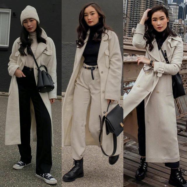 大衣怎么穿更出彩?学会7个搭配思路,这个冬天美得不寻常