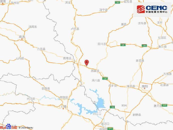 河南南阳市西峡县附近发生3.1级左右地震