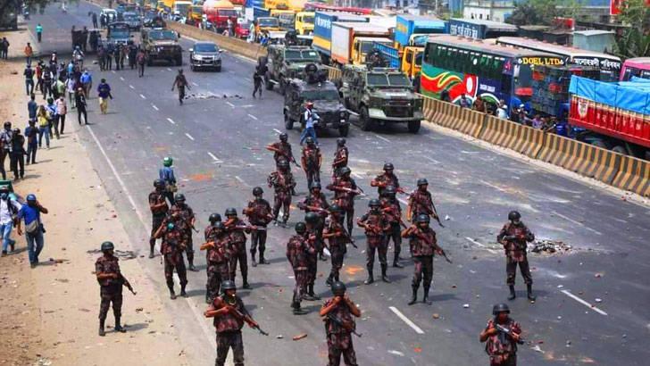 孟加拉国内政部:如果抗议者不停止过激行为将被采取强硬措施
