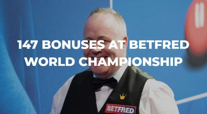 斯诺克世锦赛正赛打出147 最高可获5.5万英镑奖金