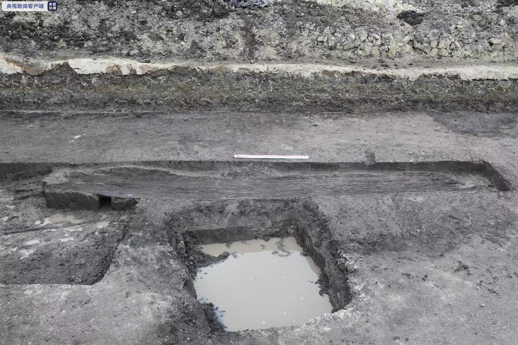 浙江余姚发现第三艘史前独木舟,距今约4900年