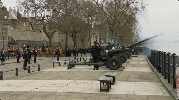英国多地鸣响41炮 为悼念菲利普亲王逝世