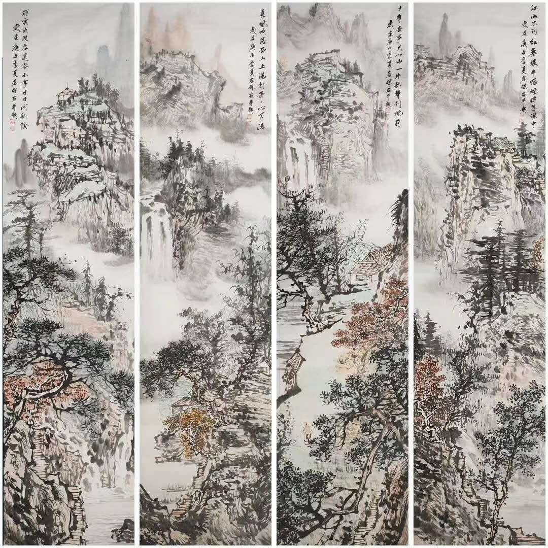 画家刘名杰作品赏析