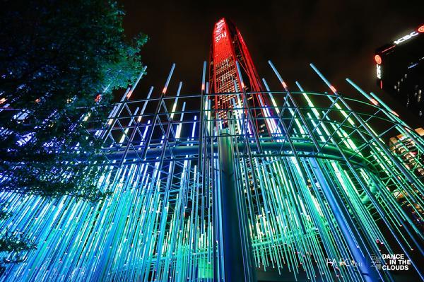 点亮深圳,PAFC MALL 8层露台灯光装置亮灯仪式盛大启幕