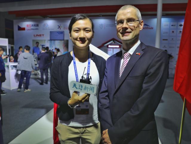 天目新闻专访捷克驻华大使:中东欧博览会展出了捷克最高水准的商品