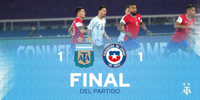 美洲杯阿根廷首秀收获平局,梅西奉献精彩任意球