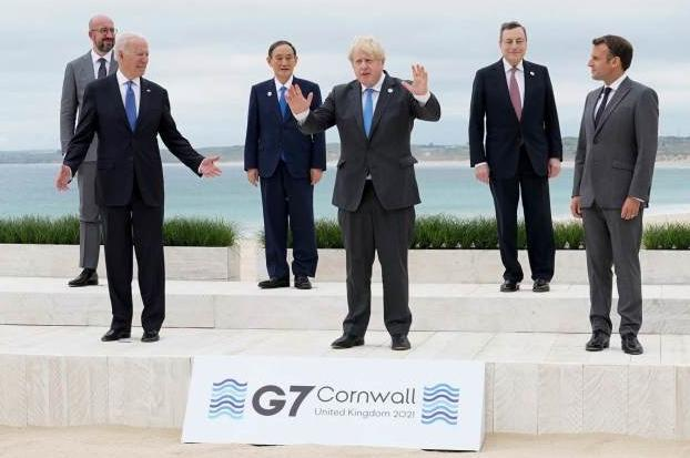 菅义伟G7首秀被晾在一边?日本民众忍不住吐槽:他看起来很阴险