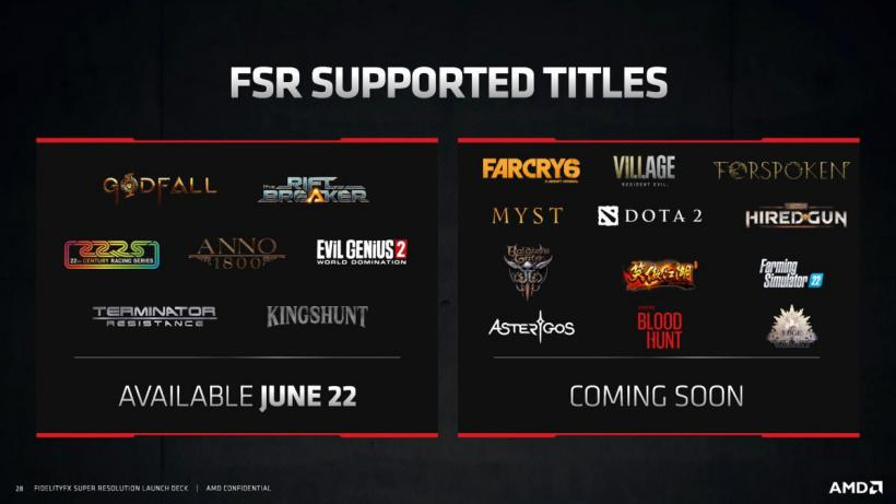 AMD 将于下个月开源 FSR 超分辨率技术