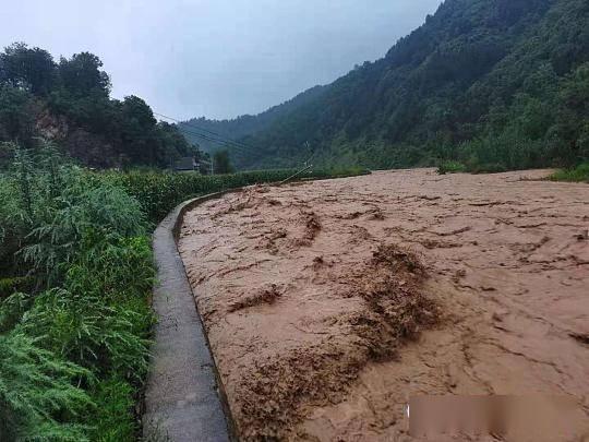 山阳县高坝店镇遭受暴雨灾害,农作物受灾面积300公顷