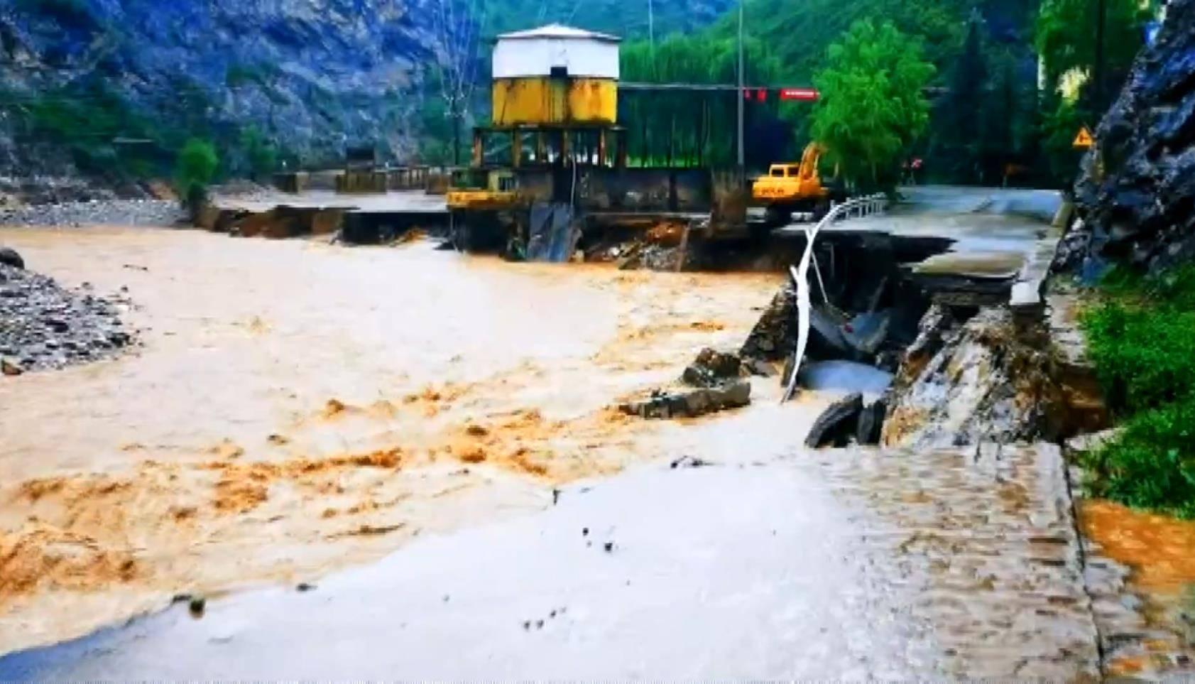 暴雨致陕西洛南县近7万人受灾 直接经济损失16483.4万元