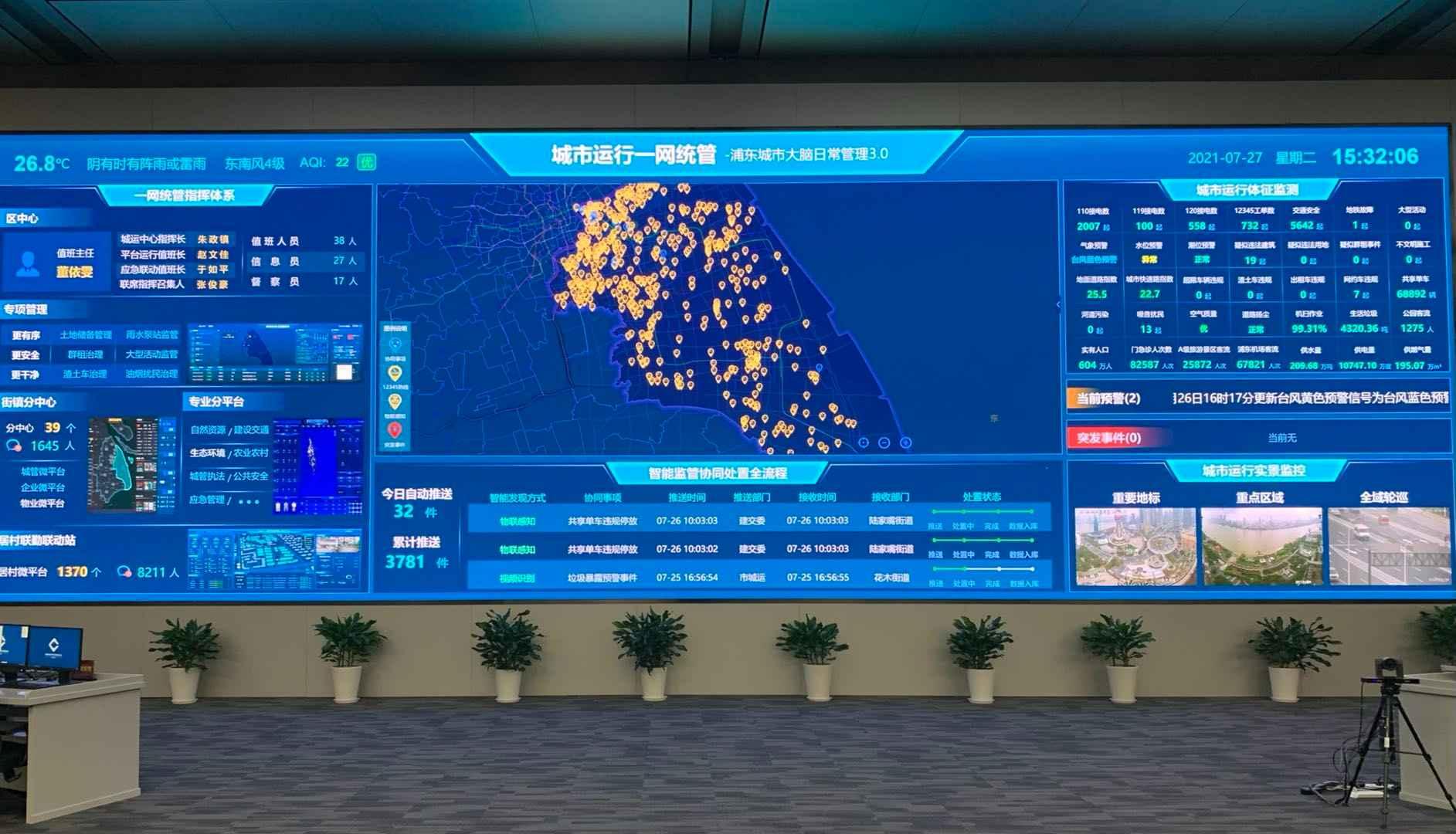"""上海浦东""""城市大脑"""":用智慧科技""""把脉""""城市精细化治理"""