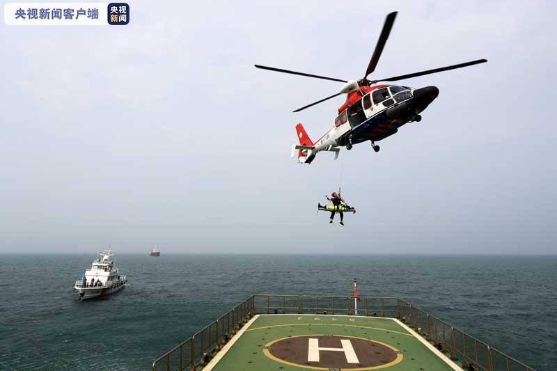 国家首次海上搜救无脚本实战演练在河北举行