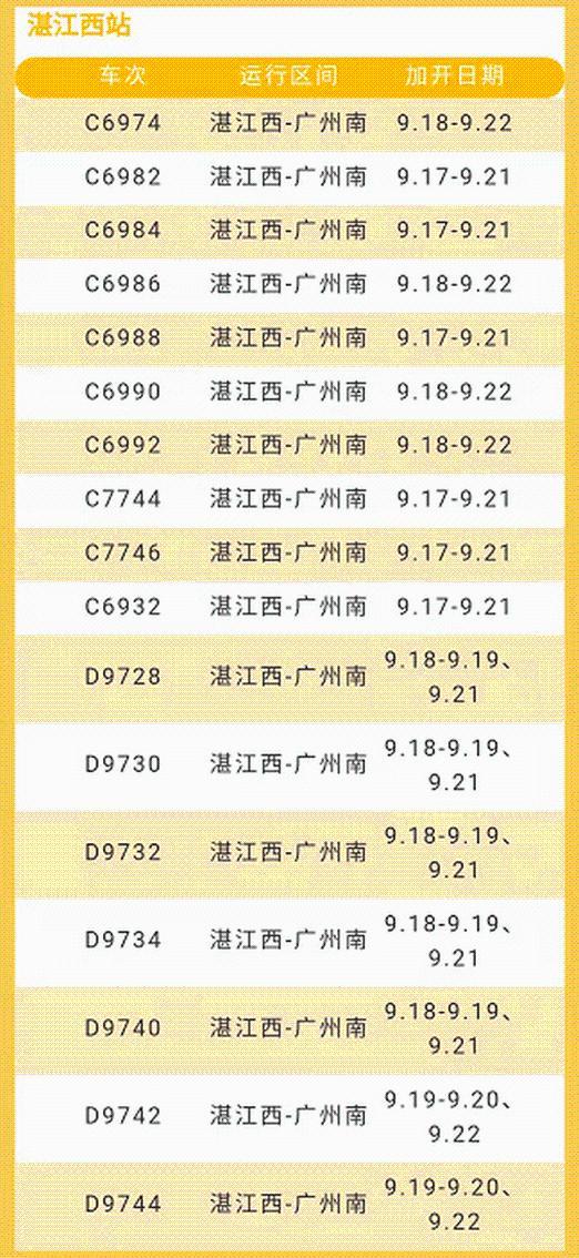中秋佳节,肇庆车务段管内将加开多对列车
