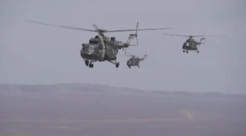 给力!5架直升机保障神舟十二号航天员归来