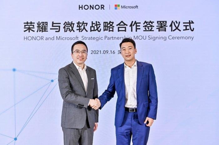 荣耀与微软达成战略合作,荣耀MagicBook V 14成为首批搭载Win11笔记本电脑