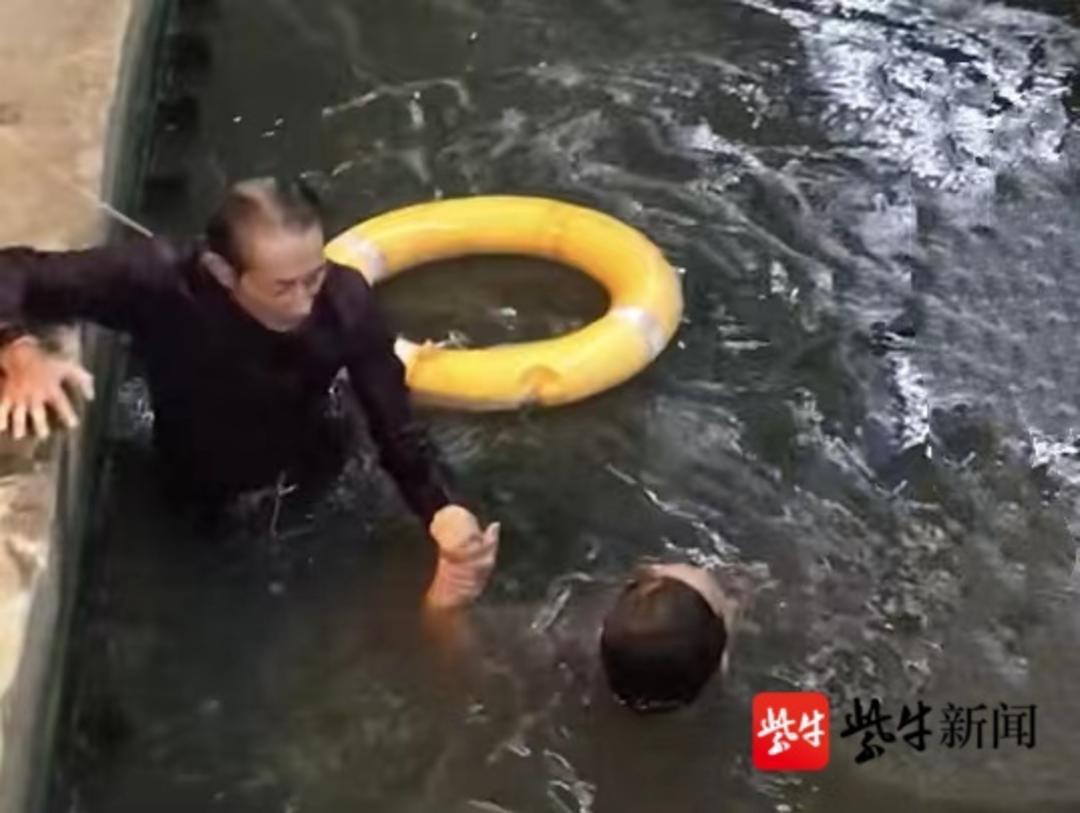 老当益壮!70岁老人跳河勇救落水小伙