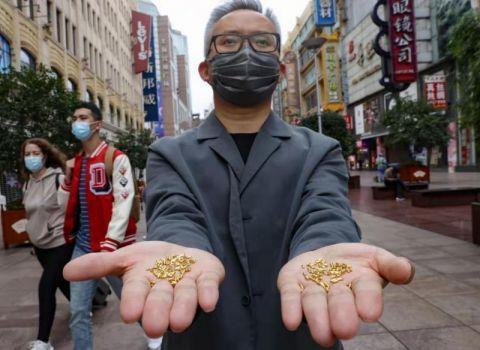 壹现场丨制作1000粒纯金大米扔进黄浦江? 艺术家回应:粮食比黄金珍贵