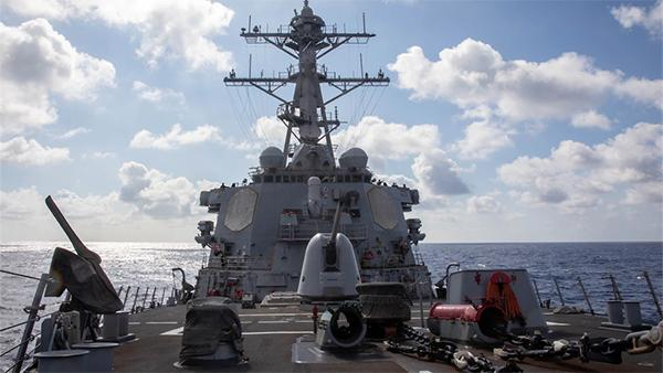 美海军第七舰队证实与加拿大军舰联合过航台湾海峡