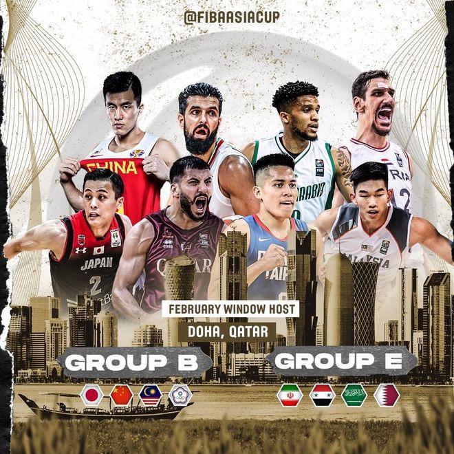 国际篮联:男篮亚洲杯预选赛B组比赛移至多哈进行