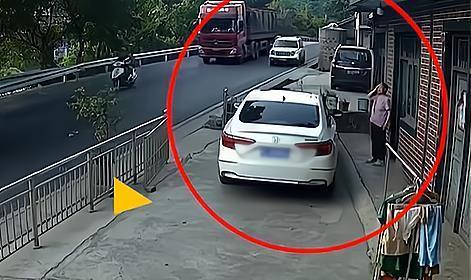 贵阳一老人刚出自家门,被失控野越车撞了:明天和意外不知谁先来
